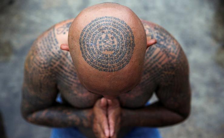 Tatuajes budistas en Tailandia