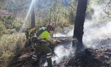 Medios aéreos y terrestres de Murcia colaboran para extinguir un incendio en Albacete