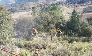 Murcia envía 31 efectivos al incendio declarado en Paterna del Madera