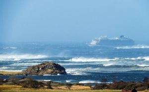 Ordenan evacuar un crucero con 1.300 personas en Noruega por un fallo de motor