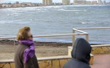 Aviso amarillo por fenómenos costeros este martes en el Campo de Cartagena y Mazarrón