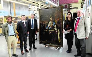 Un lienzo restaurado de Boronat vuelve a la UMU