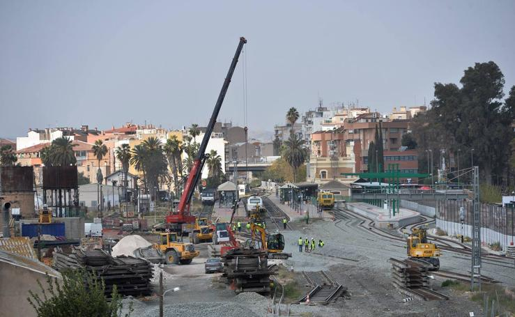 Obras del soterramiento del AVE en Murcia