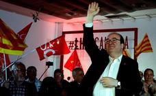 Iceta permitiría un referéndum si el 65% de los catalanes quiere la secesión