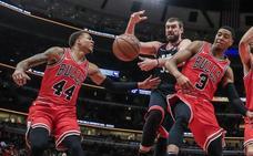 Ibaka y Marc Gasol arrollan a los Bulls