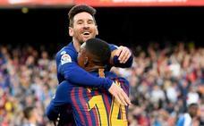 Messi no permite que el Barcelona se relaje