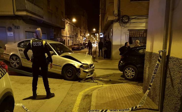 Accidente con heridos en al barrio de San Felipe de Mula