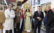 Restauran la talla de la Virgen del Rosario de La Alberca