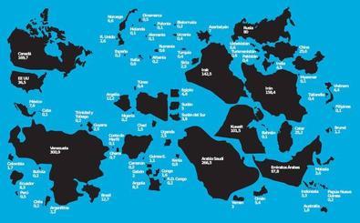 El mapa del oro negro