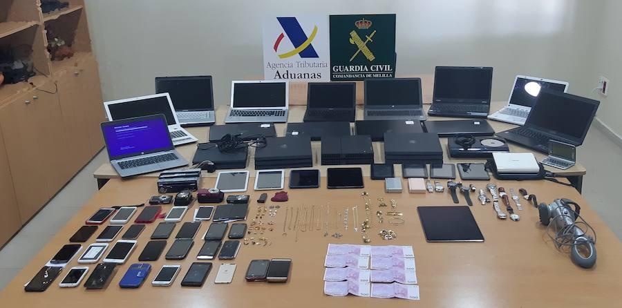 Recuperan en Melilla el botín de 14 robos perpetrados en la Región, Alicante y Albacete
