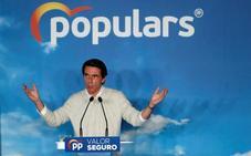 Aznar: «Sánchez es el candidato de los secesionistas, de los golpistas y de los que no condenan a ETA»