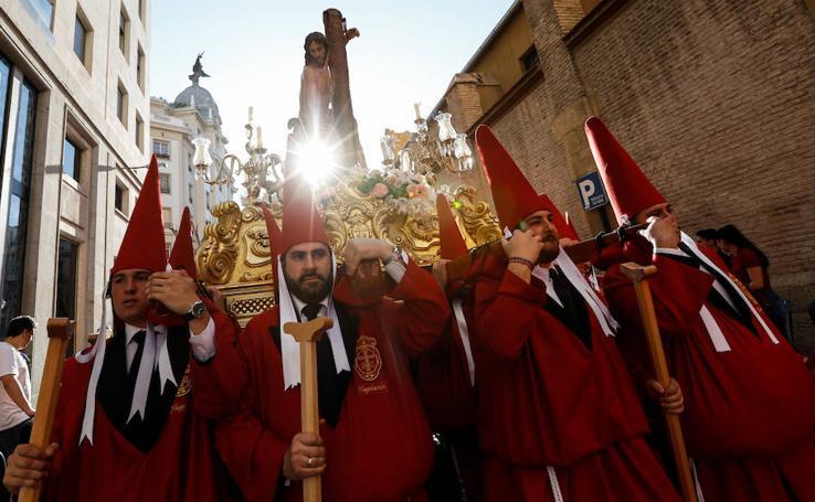 Procesión de la Caridad en el Sábado de Pasión murciano