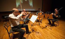 El Cuarteto Saravasti en ensaya en el Auditorio Víctor Villegas