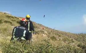 Rescatan a una mujer herida mientras hacía senderismo en Cabo Tiñoso