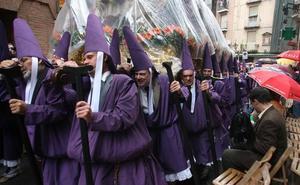 La previsión de lluvias en la Región durante Semana Santa amenaza la procesión de los Salzillos