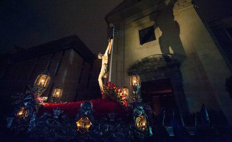 Procesión del Refugio en el Jueves Santo de Murcia