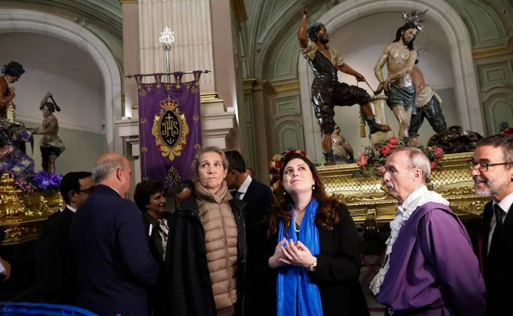 La Infanta Elena visita los tronos del maestro Salzillo