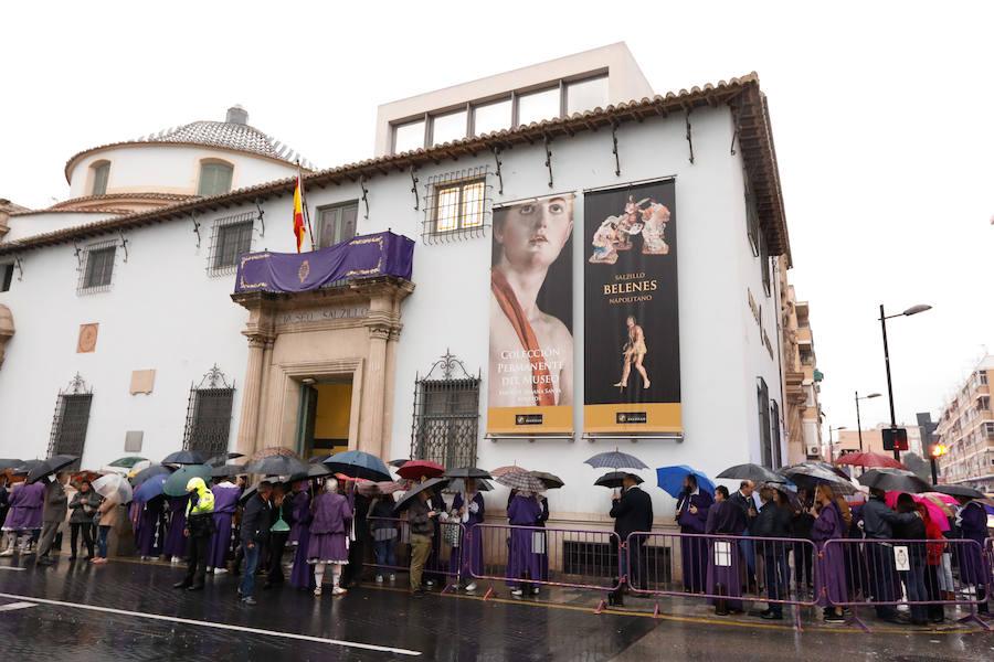La procesión de La Mañana de Salzillo de Murcia, suspendida por la lluvia