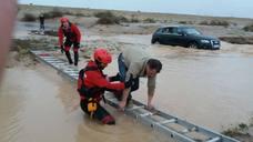 Carreteras cortadas por las lluvias en la Región