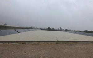 La lluvia deja pocos problemas en Alhama y más de 100.000 metros cúbicos de agua para riego