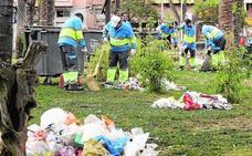 El Ayuntamiento prevé recoger 87 toneladas de basura el día del Bando de la Huerta