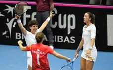 Gigante Carla Suárez para subir al Grupo Mundial