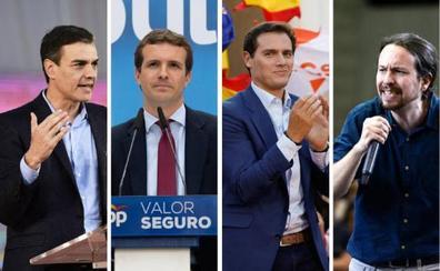 Los candidatos despejan su agenda por los debates