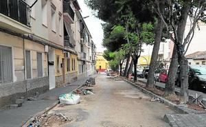 Las obras de mejora avanzan en el Camino de Murcia, en Cieza