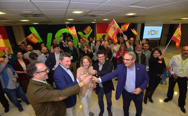Así se recibieron los resultados electorales en la sede de Vox