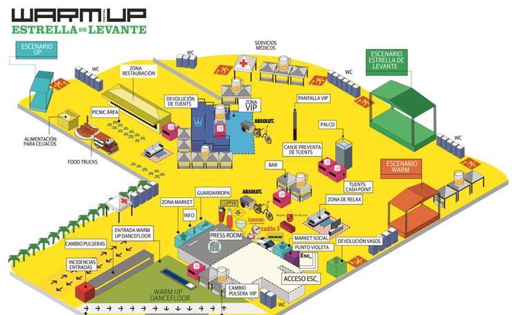 Así es el mapa del Warm Up