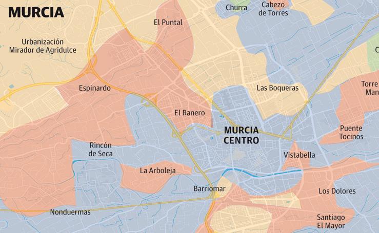 Voto del 28A en Murcia