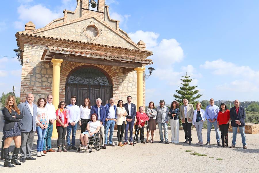 El PSOE de Alcantarilla presenta su campaña en el entorno del Agua Salá y la ermita de la Virgen de la Salud