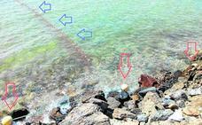 Redes de pesca en la reserva de nacras