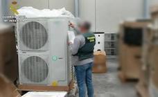 Seis arrestados en Murcia y Alicante por robar aparatos de aire acondicionado
