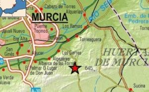 Un seísmo de 2,1 grados se deja sentir al sureste del municipio de Murcia