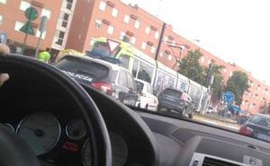 La colisión con un turismo interrumpe el servicio del tranvía en el campus de Espinardo