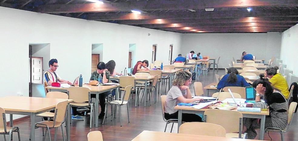 La sala de estudio funcionará las 24 horas