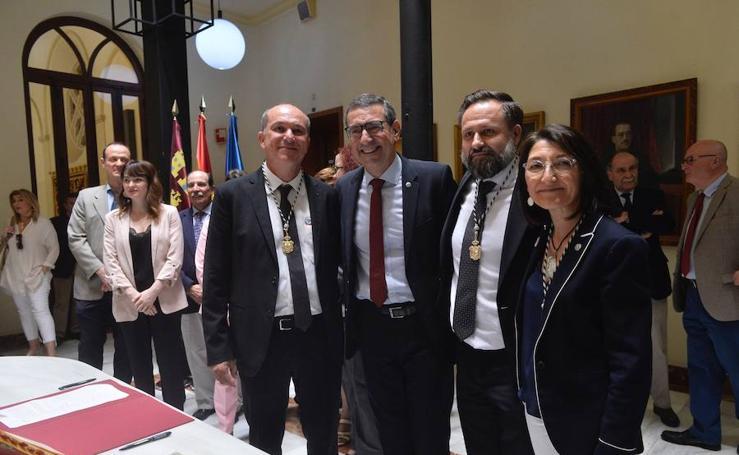Paloma Sobrado, Longinos Marín y Pedro Miguel Ruiz toman posesión como vicerrectores de la UMU