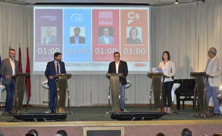 El debate electoral 26-M de 'La Verdad', en imágenes