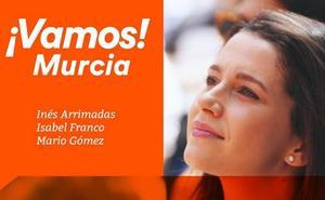 Inés Arrimadas visitará Murcia este domingo para arropar a los candidatos de Cs