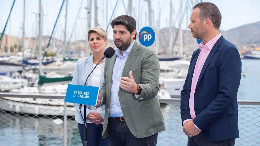 López Miras anuncia una Oficina de Captación de Inversiones en Cartagena y el traslado de Turismo