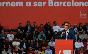 Sánchez reclama una Barcelona «no sometida» al 'procés' para consolidar la victoria del 28-M