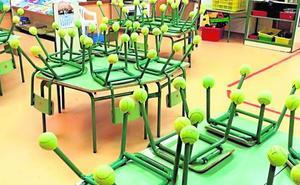 Pelotas de tenis para luchar contra el ruído en las aulas