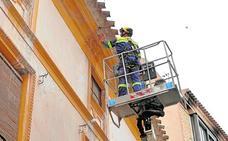Actuación de urgencia para consolidar una fachada
