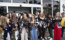 Despedida de 15 jóvenes estudiantes extranjeros