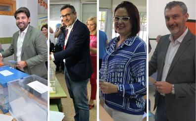 Los aspirantes a la Presidencia de la Región depositan su voto pensando «en el futuro» y «el cambio»