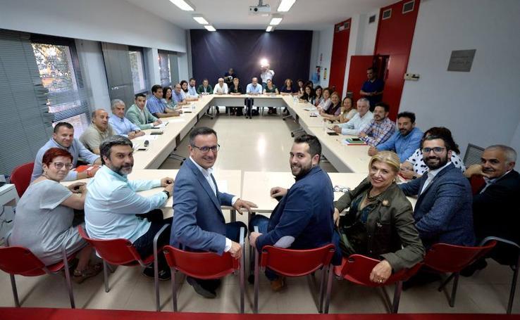Reunión de la Comisión Ejecutiva del PSRM tras el 26-M