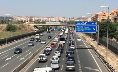 Dos tramos de Murcia ya soportan más tráfico que el cinturón de Barcelona