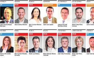 Estos son los 45 alcaldes de la Región de Murcia