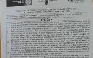 Vox denuncia «adoctrinamiento» en el examen de selectividad de Lengua y Literatura